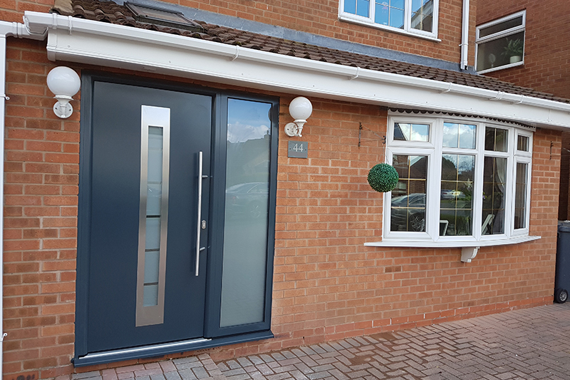 Aluminium entrance doors coventry warwick rugby for Coventry garage doors