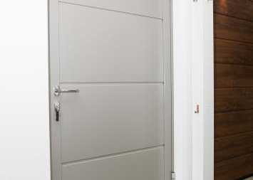grey modern front entrance door