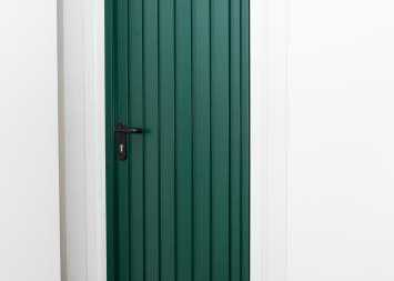 green front entrance door