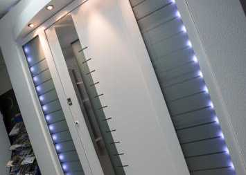 modern front entrance door showroom