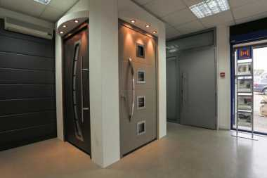 front entrance door showroom