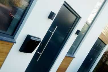 modern aluminium entrance door