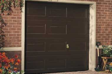 traditional sectional garage door