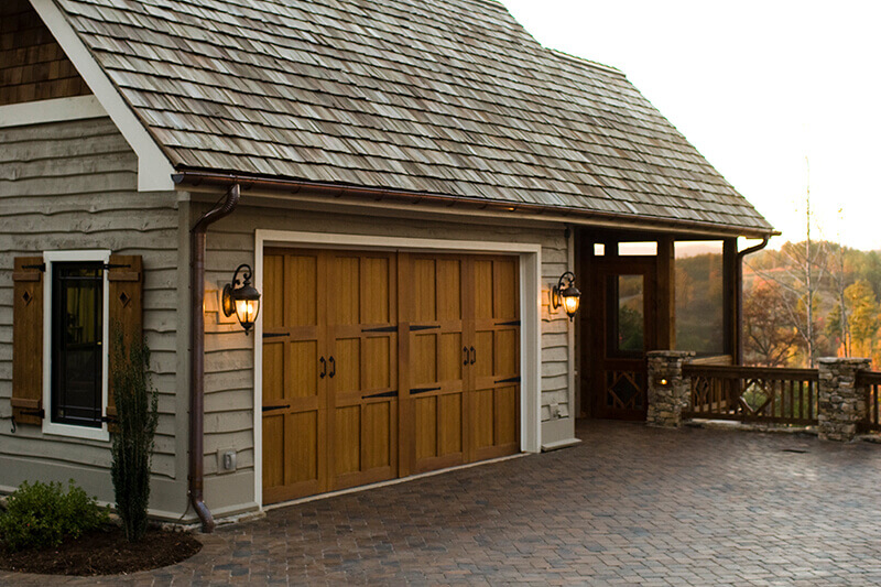 double side hinged traditional garage doors